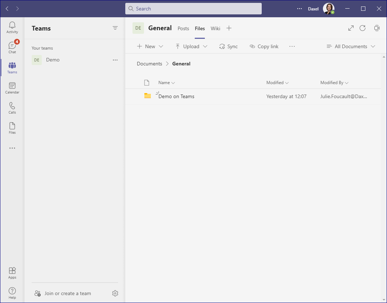 Files Folder in Teams